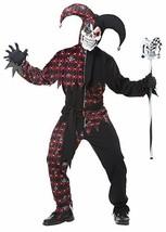 California Disfraces Siniestro Bufón Negro Rojo Adulto Hombres Disfraz H... - $36.60