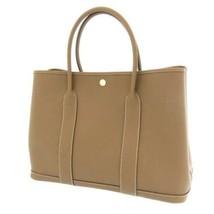 HERMES Garden Party PM Negonda Leather Etoupe Tote Bag #D France - $5,048.15