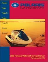 2002 Polaris Freedom / Virage / Genesis Personal Watercraft Service Manual on CD - $12.00