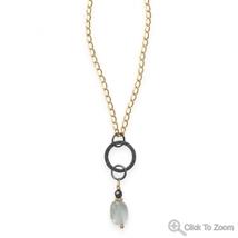 Rain Drop Design Blue Quartz Necklace - $69.99