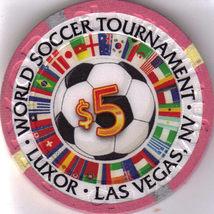 2010 World Soccer Tournament Luxor Hotel Las Vegas $5 Casino Chip, New - $10.95