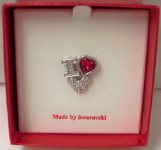 Disney i love mickey swarovski crystal brooch pin open box thumb200