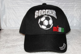 MEXICO SOCCER BALL BASEBALL CAP ( BLACK ) - $12.27