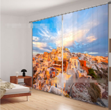 3D Island Town Blockout Photo Curtain Printing Curtains Drapes Fabric Window CA - $147.54+