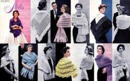 Stoles Shawls Scarves Book Glamorous 1950sGlam Patterns - $12.99