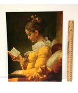"VTG 1950'S ""A YOUNG GIRL READING""  Art Print Lithograph JEAN FRAGONARD L... - $19.79"