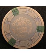 """1960 - $1.00 Casino Chip From: """"Diamond Jim's Casino"""" - (sku#2196) - $4.99"""