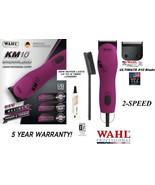 Wahl Pro KM10 PINK 2-Speed ULTIMATE Clipper KIT&10 Blade Set KM PET DOG ... - $311.31