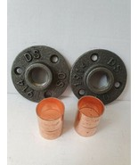 2 X Malleable Iron Flange with 22mm Copper Fittings *Great for metal Bra... - $12.82