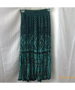 Black and green Carole Little swirly skirt - $7.50