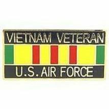 Air Force Vietnam War Veteran Ribbon Usaf Lapel Pin - $18.04