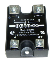 NEW OPTO 22 SOLID STATE RELAY MODEL 240D3 3-32VDC CONTROL
