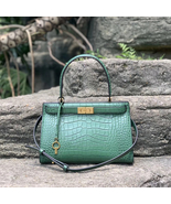 Tory Burch Small Lee Radziwill Croc Embossed Leather Satchel - $644.00