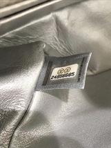 100% AUTH CHANEL SILVER CALFSKIN LARGE MINI 20CM RECTANGULAR FLAP BAG SHW image 8