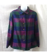 Allison Daley jacket in green, blue and burgundy - $7.50