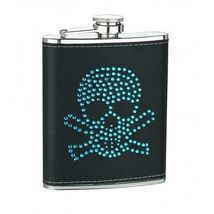 6oz Blue or Red Skull Head Flask - €12,18 EUR