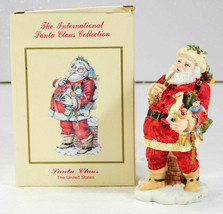 International Santa Claus Collection Santa Claus UNITEd STATES Figurine NIB - $14.99