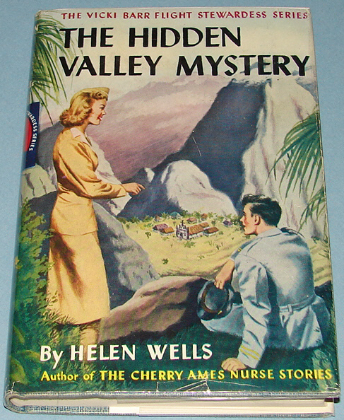 Vicki Barr #3 The Hidden Valley Mystery Tweed 1948 DJ