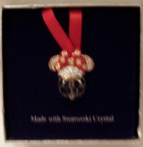 Disney minnie swarovski crystal christmas ornament new in box open thumb200