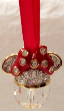 DISNEY MINNIE SWAROVSKI CRYSTAL CHRISTMAS ORNAMENT NIB!