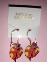 Pretty Multicolor Leaf Dangle Earrings - $2.00