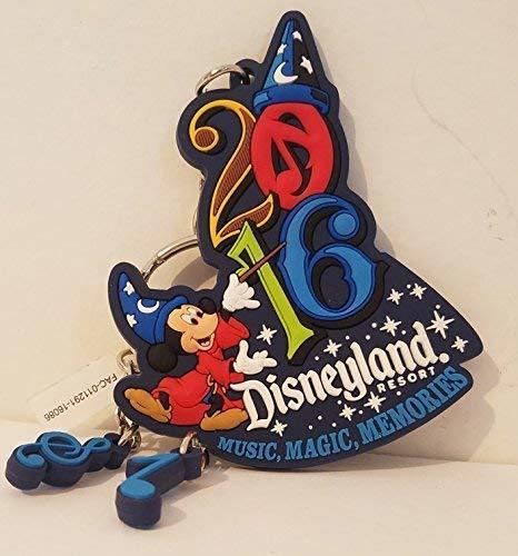 Disneyland Resort 2016 Sorcerer Mickey Rubber Keychain