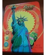 Reese's Peanut Butter Cup Metal Tin Container Can Lady Liberty  - $6.50