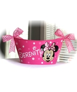 Girls storage Basket, Medium oval Basket, Personalized Mouse Bin Storage... - $16.00