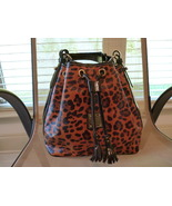 Dooney & Bourke Leopard Print Drawstring Bag - $99.00