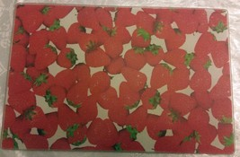 """Cutting Board, Glass, Rectangle, Strawberries, 12"""" X 8"""" By Sweet Home - $8.90"""