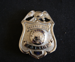 Beverly Hills Cal,Scarce Antique Police Badge W/ Wallet,.Hmk L.A Rubber Stamp Co image 1