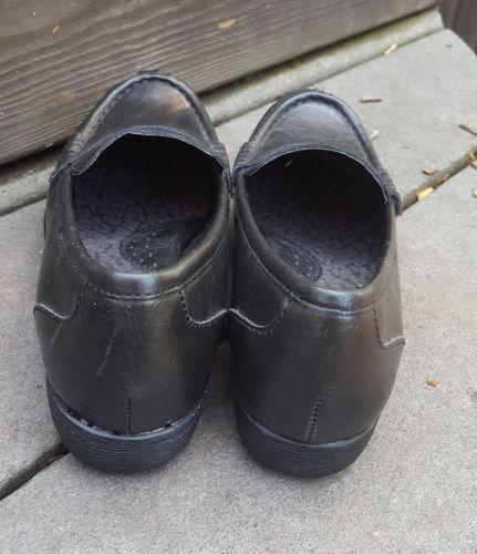 Boc Born loafers 6 black vegan faux leather moc toe