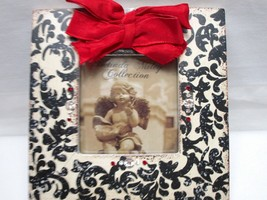 """Belinda Miley Collection Picture Frame 3"""" X 3"""" Photo Rhinestone Bow Blac... - $14.25"""
