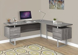 """Monarch Specialties I 7304 Computer Desk Left or Right Facing Dark Taupe 70"""" L"""