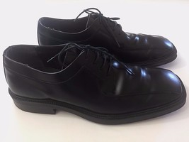 9 1/2 M Alfani Maverick Made Italy Shoes Black Leather Lace Up Oxford Dr... - $38.52