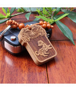Miniature Mysterious Ancient Almanac Signs Wooden Carvings Keychains Key... - $29.99