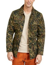 $129 NEW MENS INC JESSE FIELD MILITARY GREEN CAMOUFLAGE BELTED JACKET L - $29.69
