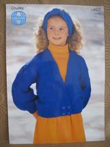 "Sirdar Chunky Knitting Patterns CHILDRENS Cardigan Sweater 22"" - 30"" - $4.95"