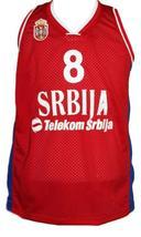 Nemanja bjelica  8 serbia custom basketball jersey red   1 thumb200