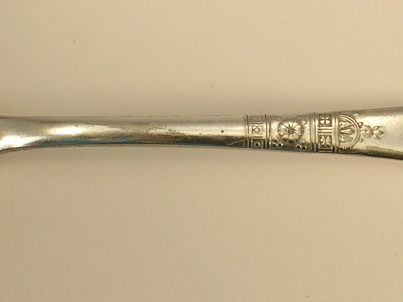Wm Rogers and Son Silverplate Serving Spoon B in the Alaska 1890 Pattern