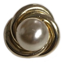 Vintage Coro Faux Pearl Small Brooch Pin - $9.89