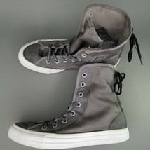 Converse CTAS Back Lace Hi Top Shoes Womens SZ 8 See Through Chucks Gray... - $46.74