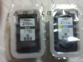 2-Pack Genuine Canon Ink Cartridges, PG210XL Black/ CL211XL Color - $41.99