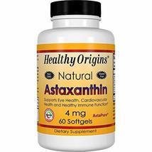 Healthy Origins Astaxanthin (AstaPure) 4 mg, 60 Softgels - $15.69