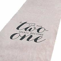 And The Two Shall Become One Wedding Aisle Runner 100 FT X 3 FT Wedding ... - $33.90