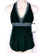Champion Women's Racer Back Bikini Swimsuit Top Size XS Black Gray NWT - $14.51