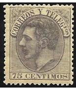 Spain 1882 Scott# 254 MH - $101.50