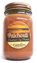 Patchouli - 16 Ounce Country Jar 100% Soy Candle - Handmade in USA - $16.90
