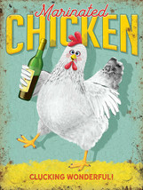 Marinated Chicken Vino Wine Bottle Drunk Humourous Fridge Magnet - $3.75
