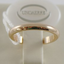 SOLID 18K YELLOW GOLD WEDDING BAND UNOAERRE RING 4 GRAMS MARRIAGE MADE IN ITALY image 1
